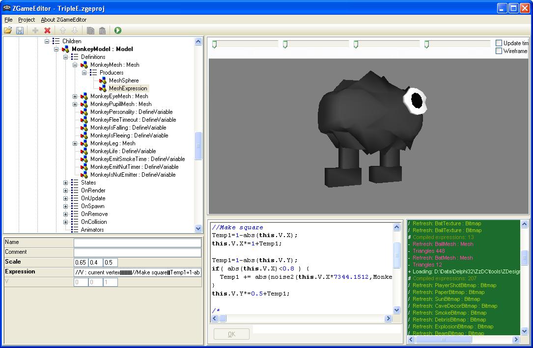 Emix8.org Ville Krumlinde: Delphi programming - ZGameEditor